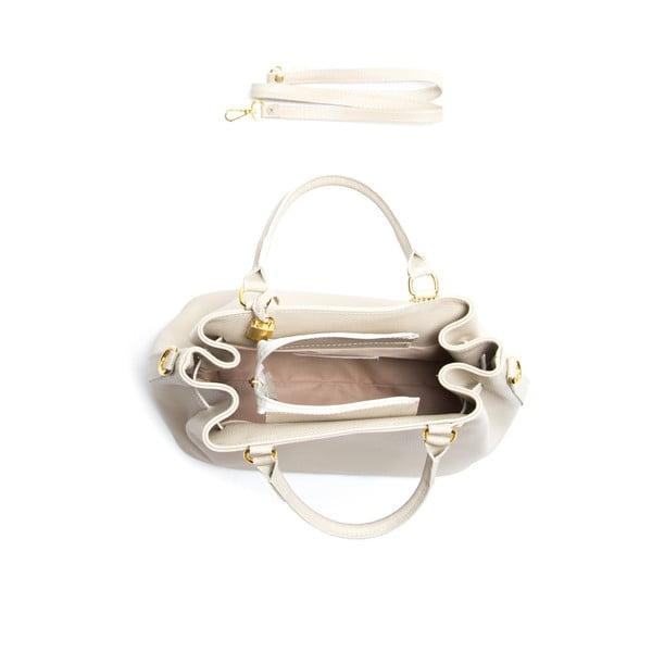 Kožená kabelka Isabella Rhea 183, béžová