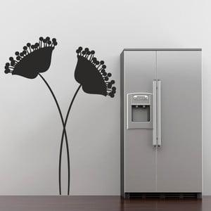 Samolepka na zeď Moderní květiny, 90x60 cm