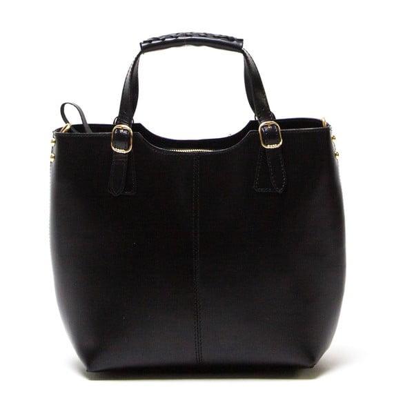 Kožená kabelka Luisa Vannini 3006, černá