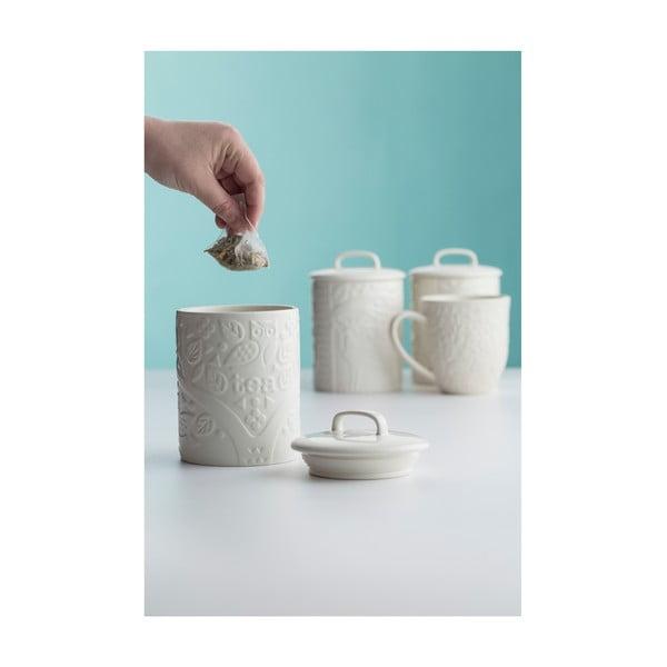 Bílá kameninová dóza na čaj Mason Cash In the Forest, 740 ml