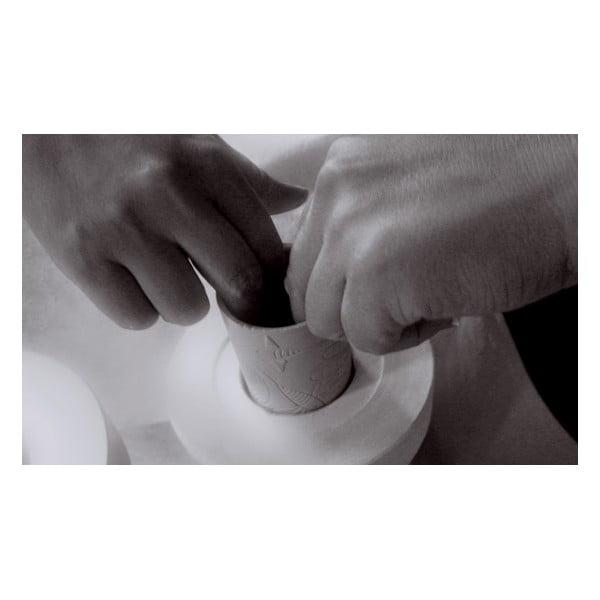 Porcelánová váza ve tvaru moka konvičky Terra White