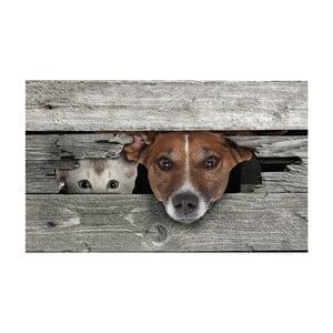 Rohožka Esschert Design Cat & Dog, 75,2 x 45,4 cm