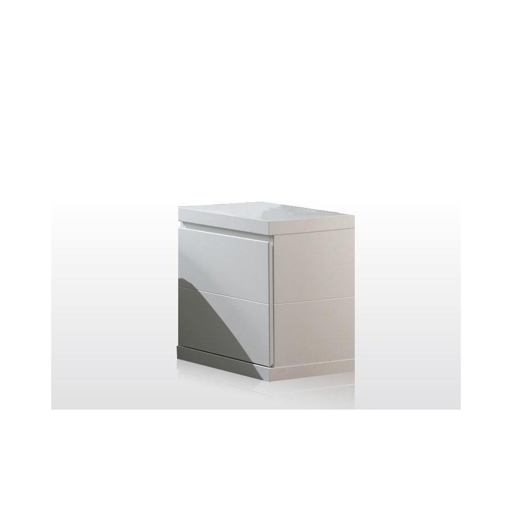 Bílý noční stolek Vipack Lara White, šířka 44 cm