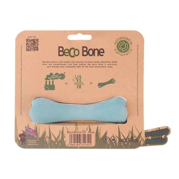 Žvýkací kost pro psy Bone Small, modrá