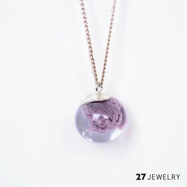 Lila náhrdelník ze skla Enamor