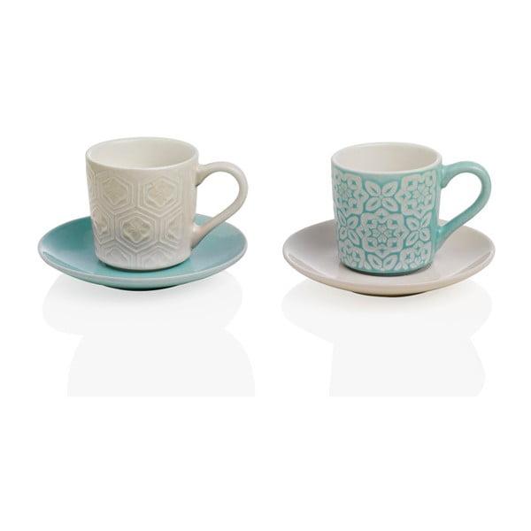 Set 2 căni din ceramică cu farfurii Brandani Alice