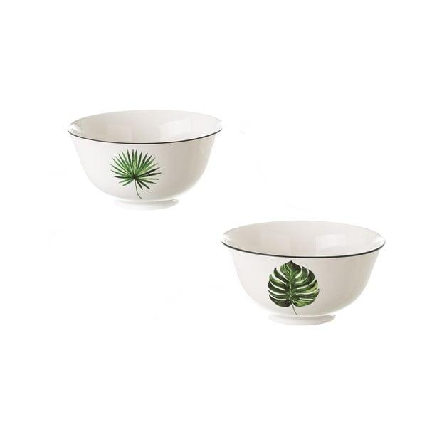 Set 2 boluri din ceramică Unimasa Tropic