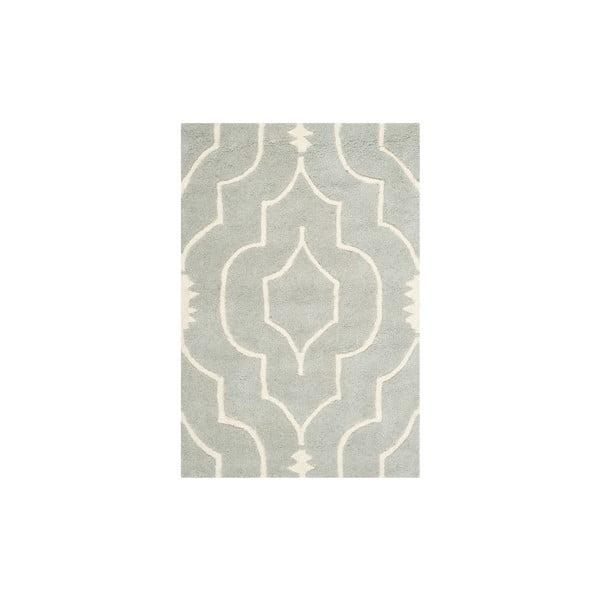 Vlněný koberec Morgan 91x152 cm, šedý