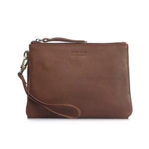 Světle hnědá kožená taška na zip Scottie Midi