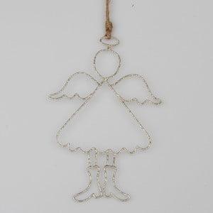 Drátěná závěsná dekorace ve tvaru anděla Dakls Piet
