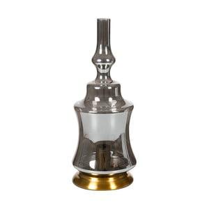 Šedá křišťálová stolní lampa Santiago Pons, výška48cm