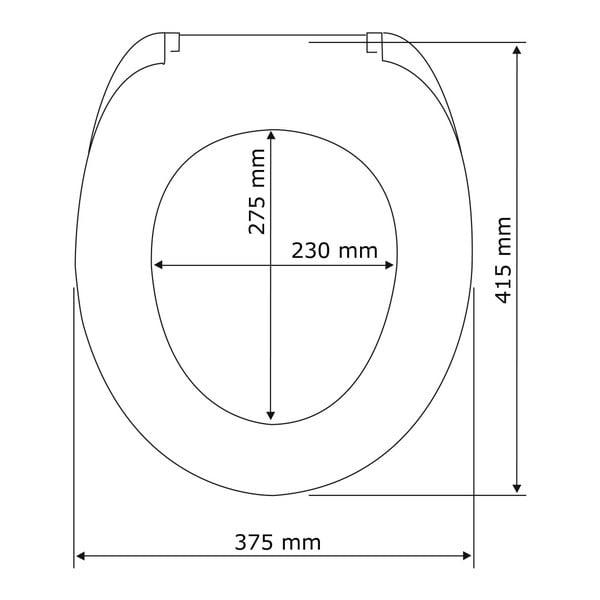WC sedátko se snadným zavíráním Wenko Ananas, 45 x 38 cm