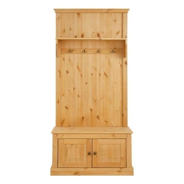 Garderoba do przedpokoju z drewna sosnowego Støraa Monroe
