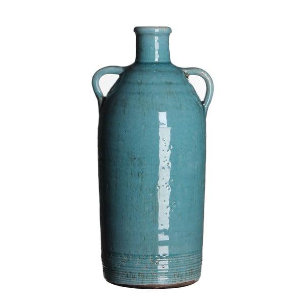 Keramická váza Sil Turquoise, 34x15 cm