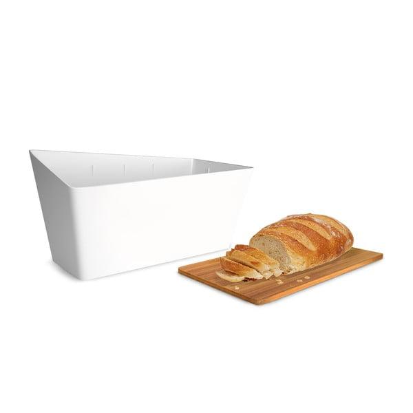 Chlebník s prkénkem Bread Bin, bílý