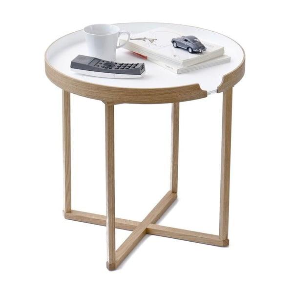 Bílý odkládací stolek Wireworks Damieh, 45x45cm