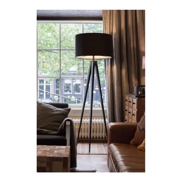 Černá stojací lampa Zuiver Tripod