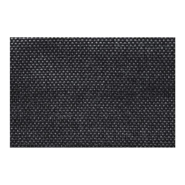 Černá rohová rozkládací pohovka s úložným prostorem Interieur De Famille Paris Destin, levý roh