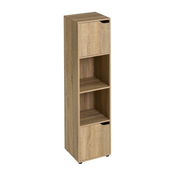 Drewniana biblioteczka z 2 drzwiczkami Unimasa Medida