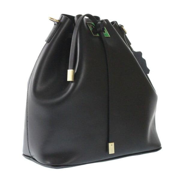 Černá kožená taška Erica