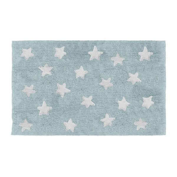 Modrý dětský ručně vyrobený koberec Tanuki Stars, 120x160cm