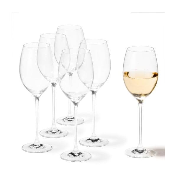 Sada 6 sklenic na bílé víno LEONARDO Cheers, 400 ml