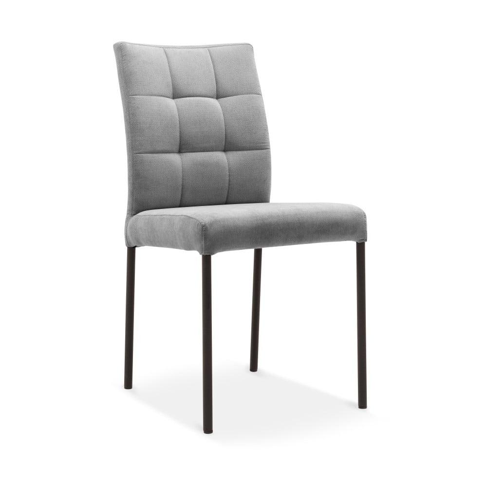 Šedá jídelní židle s černými nohami Mossø Turo