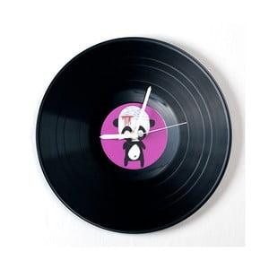 Vinylové hodiny Panda po úrazu