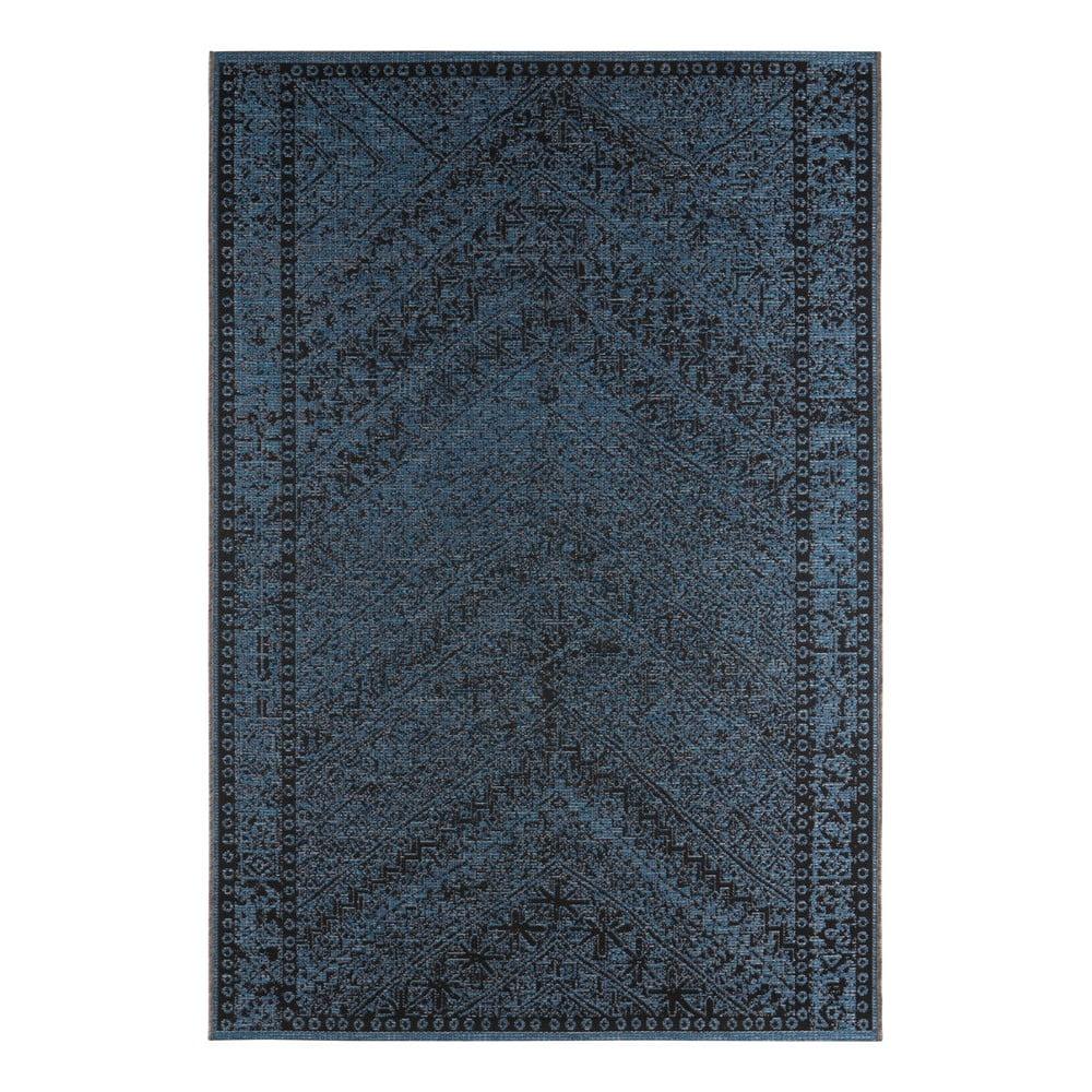 Tmavě modrý venkovní koberec Bougari Mardin, 70 x 140 cm