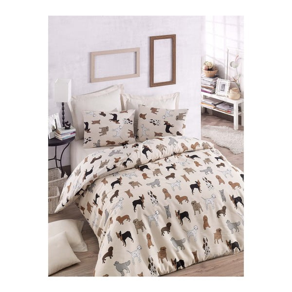 Lenjerie de pat cu cearșaf Havha, 200 x 220 cm