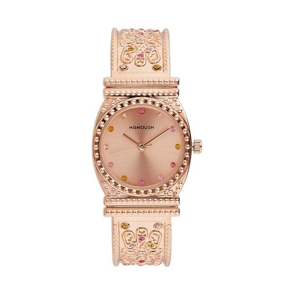 Dámské hodinky v barvě růžového zlata s krystaly Manoush Afrodité