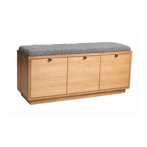 Confetti pad tárolóhellyel és szürke ülőrésszel, szélesség 106 cm - Folke