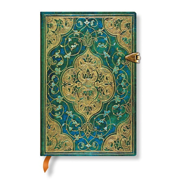 Agendă Paperblanks Turquoise Chronicles, 9,5 x 14 cm