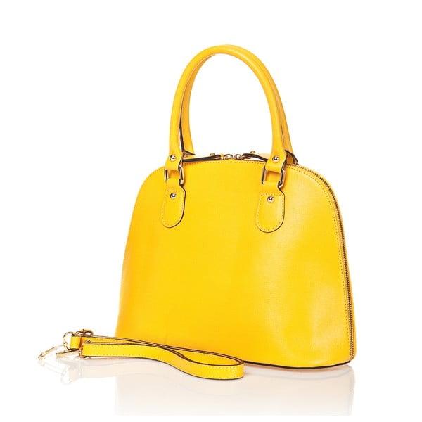 Kožená kabelka Miranda, žlutá
