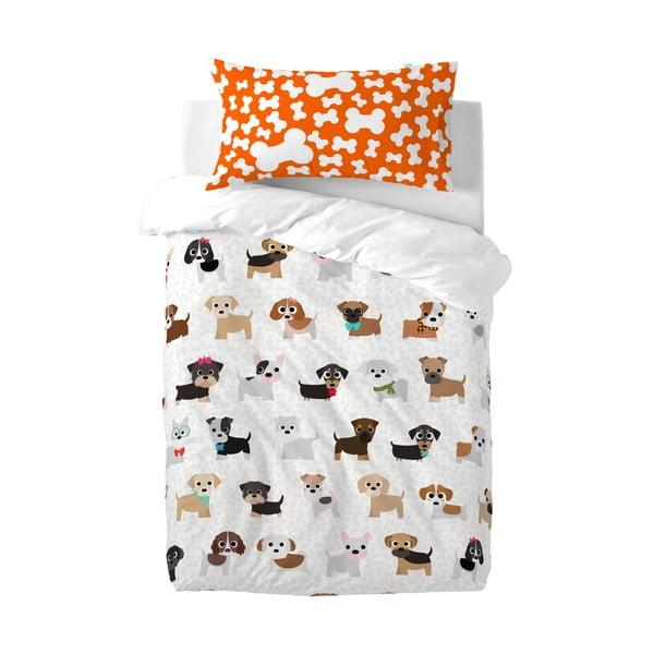 Dětské bavlněné povlečení na peřinu a polštář Mr. Fox Dogs, 115x145cm