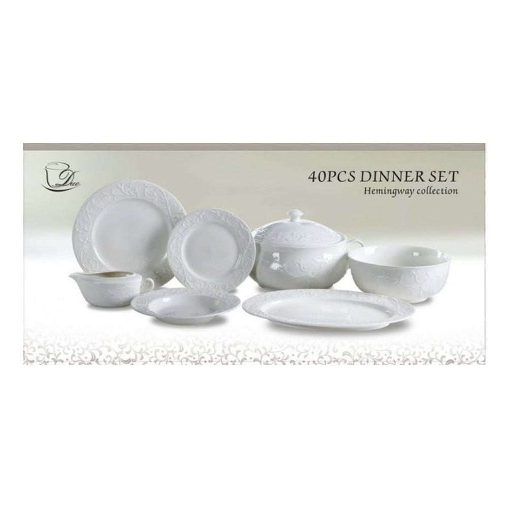 40dílný set porcelánového nádobí Duo Gift Charisma