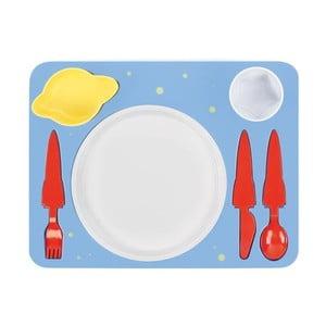Set farfurie și tacâmuri Space Dinner