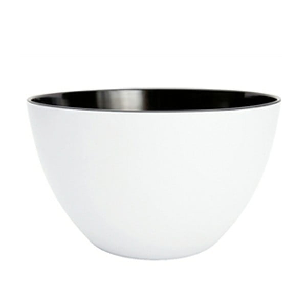 Dvoubarevná mísa Zak 28 cm, bílá/černá