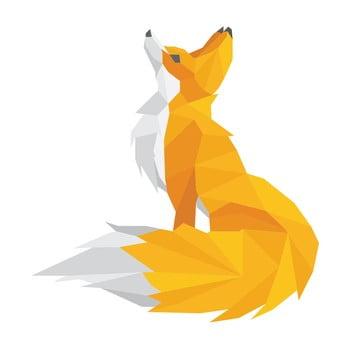 Autocolant Ambiance Origami Foxie imagine