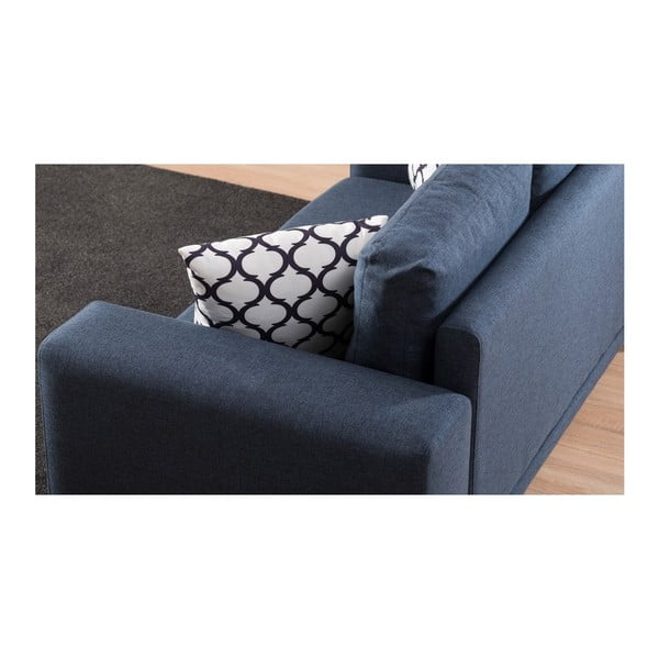 Canapea cu 2 locuri Franz, albastru închis