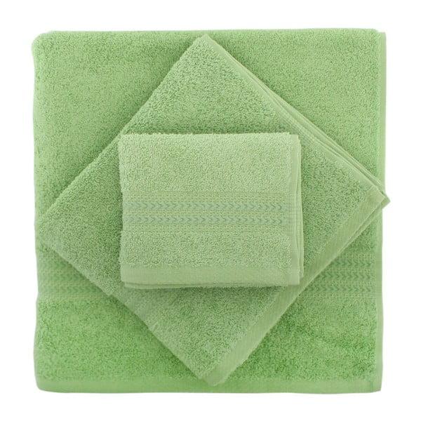 Rainbow 2 db-os zöld színű pamut törölköző és kéztörlő szett