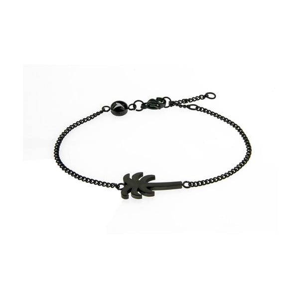Palm fekete rozsdamentes acél női karkötő - Emily Westwood