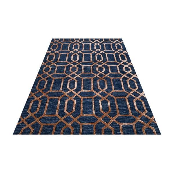 Koberec Bakero Vegas Blue/Camel, 183 x 122 cm