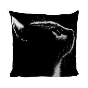Pernă Black Shake Black Cat, 40x40 cm
