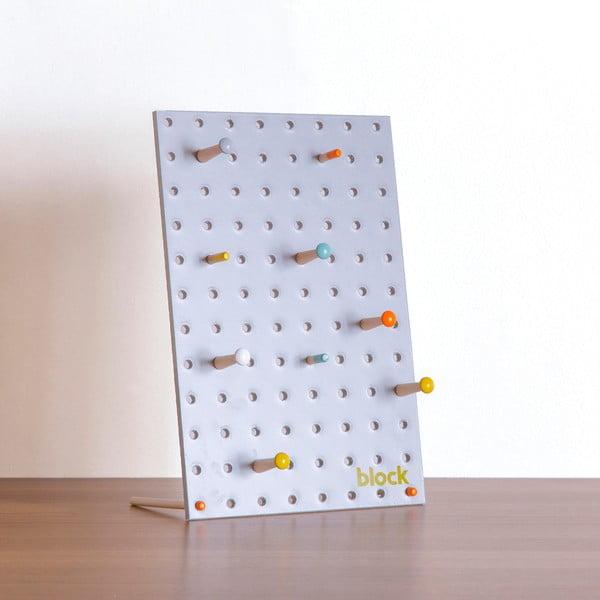 Multifunkční nástěnka Pegboard 30x20 cm, šedá