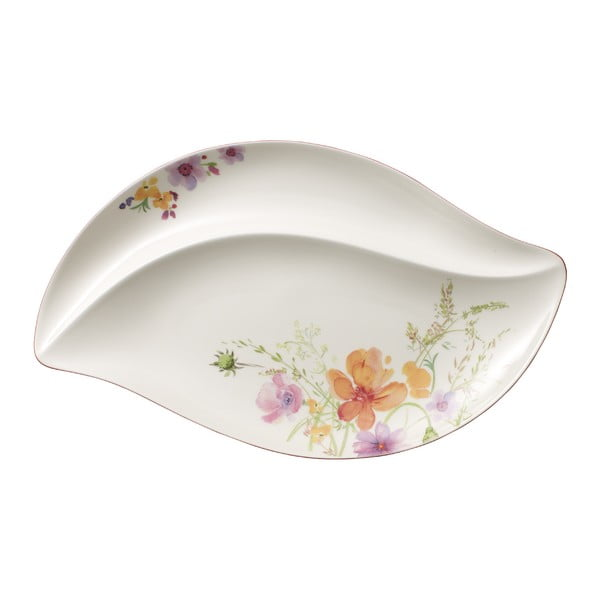 Porcelanowy półmisek z motywem kwiatów Villeroy & Boch Mariefleur Serve, 50x30 cm