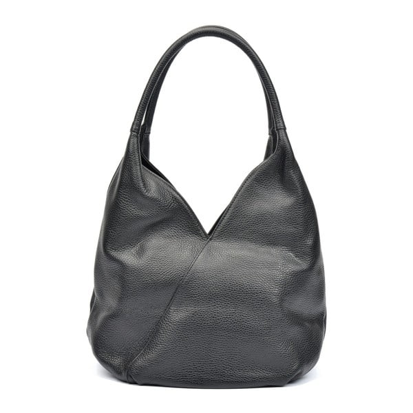 Čierna kožená kabelka Roberta M Alcee