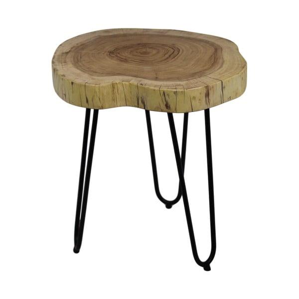 Stolik z drewna akacji HSM collection Live Edge, 43x45 cm