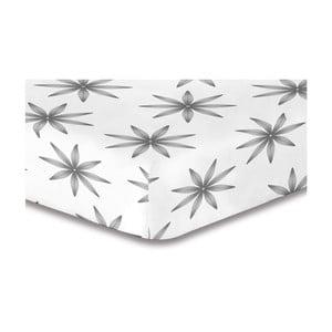 Cearşaf cu elastic DecoKing Lucky, 220 x 240 cm, alb - gri