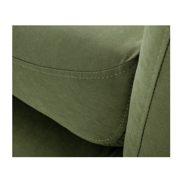 Colțar cu șezlong pe partea dreaptă Scandi by Stella Cadente Maison Constellation, verde